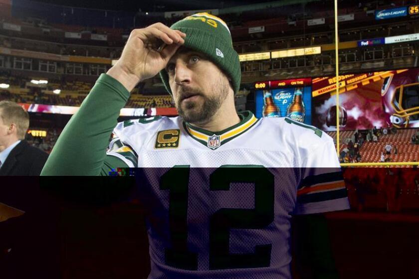 El mariscal estelar Aaron Rodgers de los Packers de Green Bay. EFE/Archivo