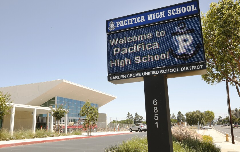 Schools in Orange County like Pacifica High School could reopen for in-person learning