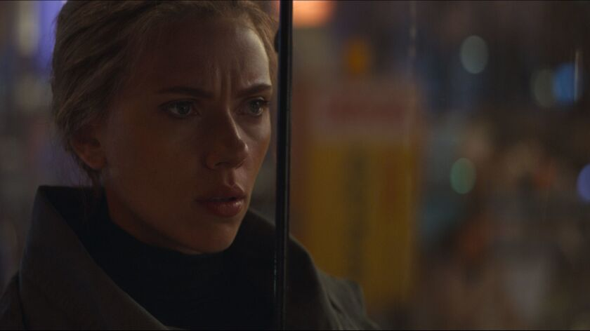 "Scarlett Johansson in the movie ""Avengers: Endgame."""