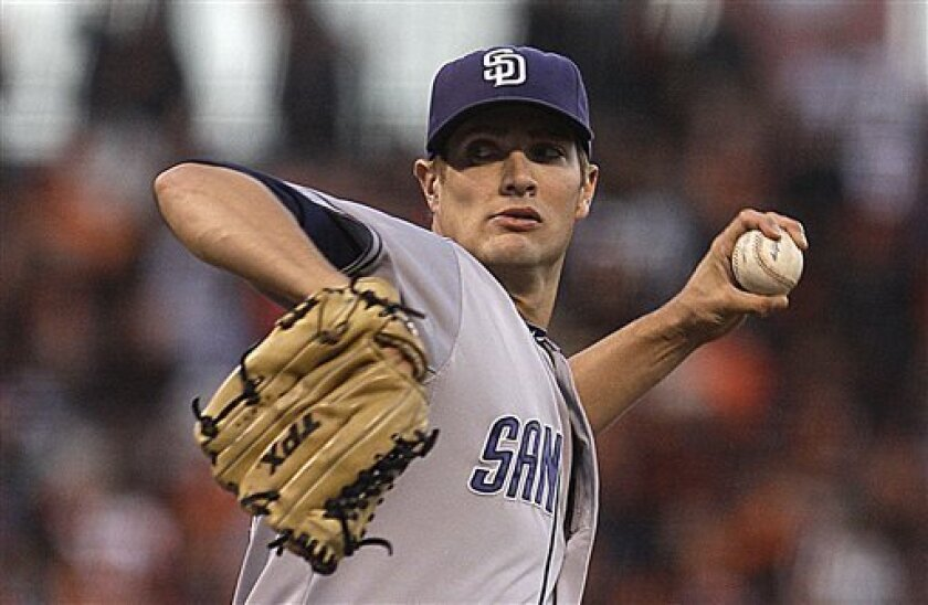 Padres left-hander Cory Luebke will begin a rehab assignment with High Single-A Lake Elsinore on Saturday. (AP Photo/Ben Margot)