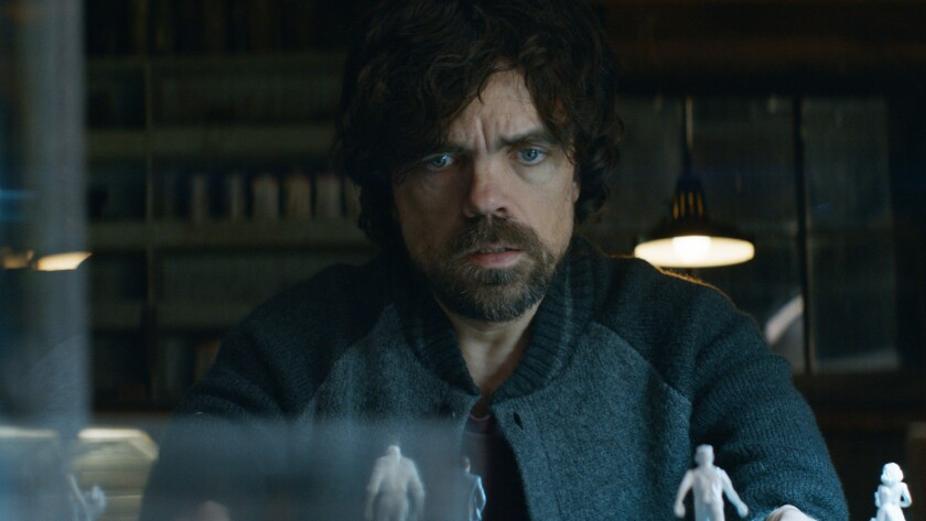 "Peter Dinklage in the film ""Rememory."""