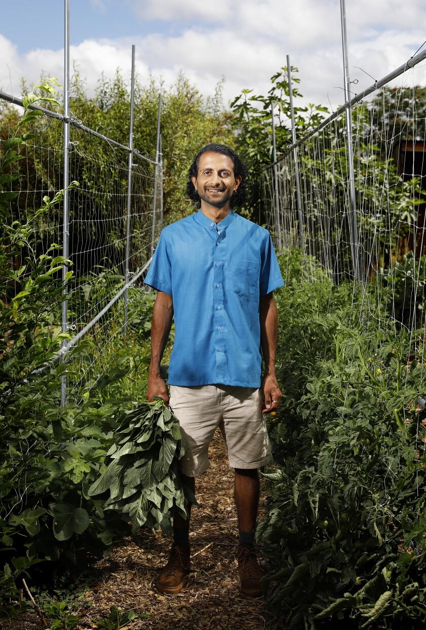 Organic gardener Rishi Kumar.