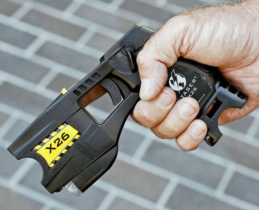 Amid a debate on police use of force, San Mateo County voted to purchase 310 Tasers, replacing older models such as this one.