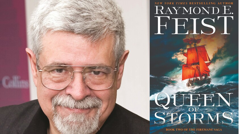 """Author Raymond E. Feist and his new book, """"Queen of Storms"""""""