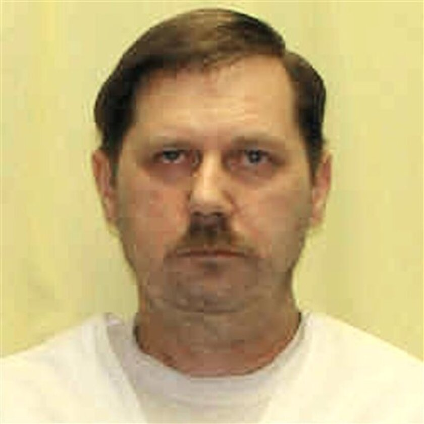 In this undated file photo released by Ohio Department of Rehabilitation and Correction, Kenneth Biros is shown. Biros was convicted of killing Tami Engstrom in February 1991. The condemned Ohio killer could become the first person in the country put to death with one dose of an intravenous anesthetic if his execution proceeds Tuesday, Dec. 8, 2009. The execution method, which replaces the faster-acting three-drug process could propel other states to eventually consider the switch. (AP Photo/Ohio Department of Rehabilitation and Correction, File)