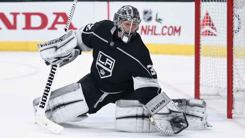 Kings goalie Jonathan Quick takes a personal six-game winning streak into Tuesday, with a 1.46 goals-against average in that run.