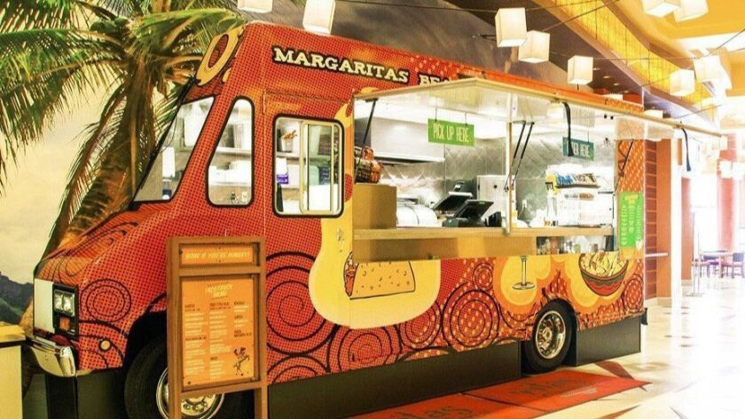 'Ritas Cantina operates an actual taco truck right off the Harrah's SoCal hotel lobby. Courtesy