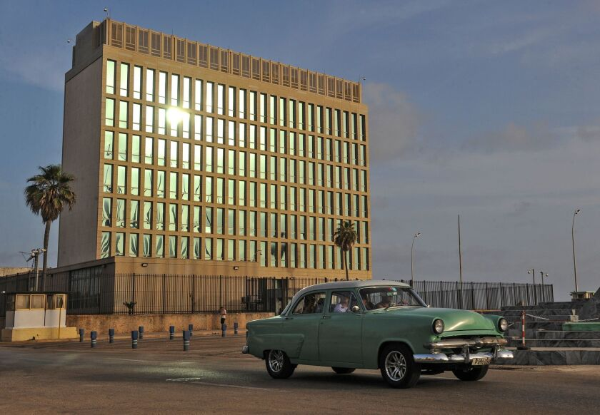 A vew of the U.S. Interests Section building in Havana, as seen on July 1. A new embassy is expected to open in the area later this month.