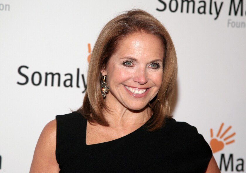 Katie Couric, shown at the Somaly Mam Foundation Gala in New York, is joining Yahoo to anchor a news program for the Internet company as it tries to expand its audience and sell more advertising.