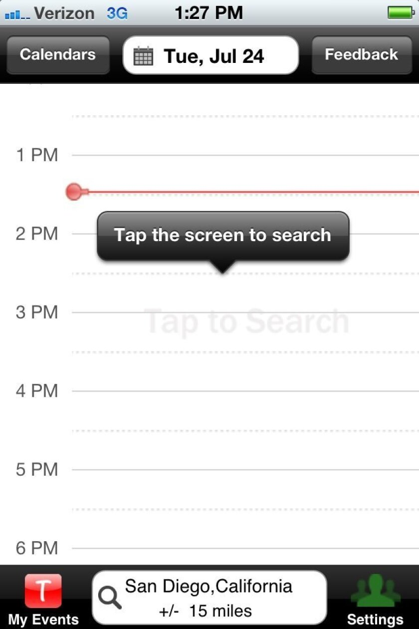 Time to Enjoy app lets users search for things to do based on when they want to go out