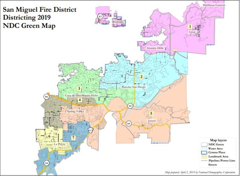 San Miguel Consolidated Fire District governance area map