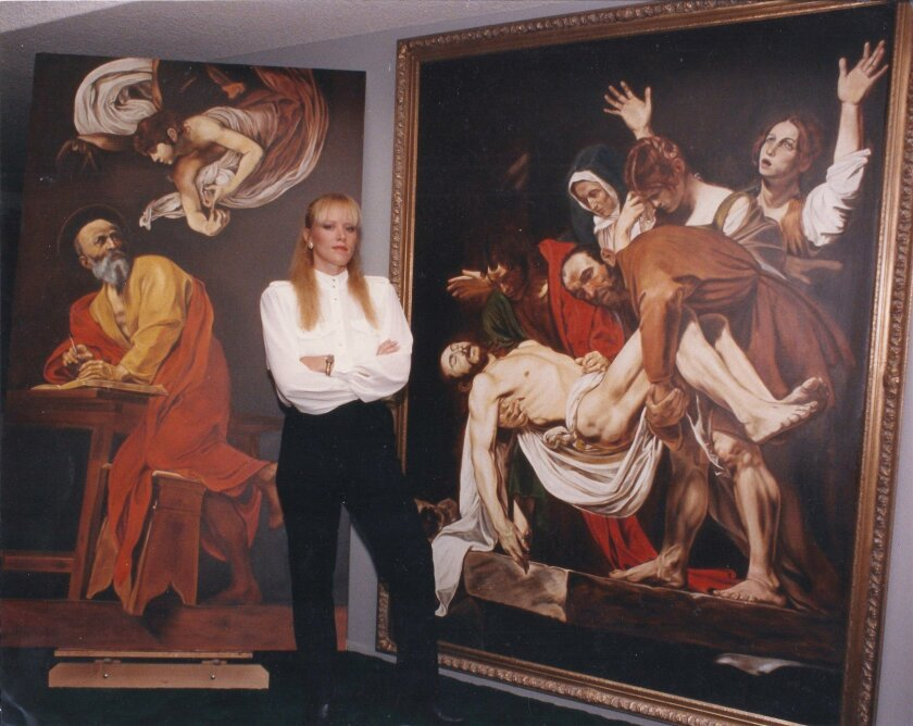 Noel Baron painted dozens of large reproductions of masterpieces by the likes of Michelangelo, Caravaggio and DaVinci.