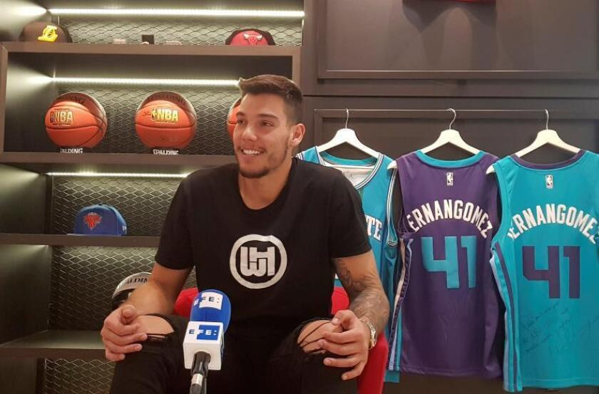 Willy Hernangómez, jugador de Charlotte Hornets en la NBA. EFE/Archivo