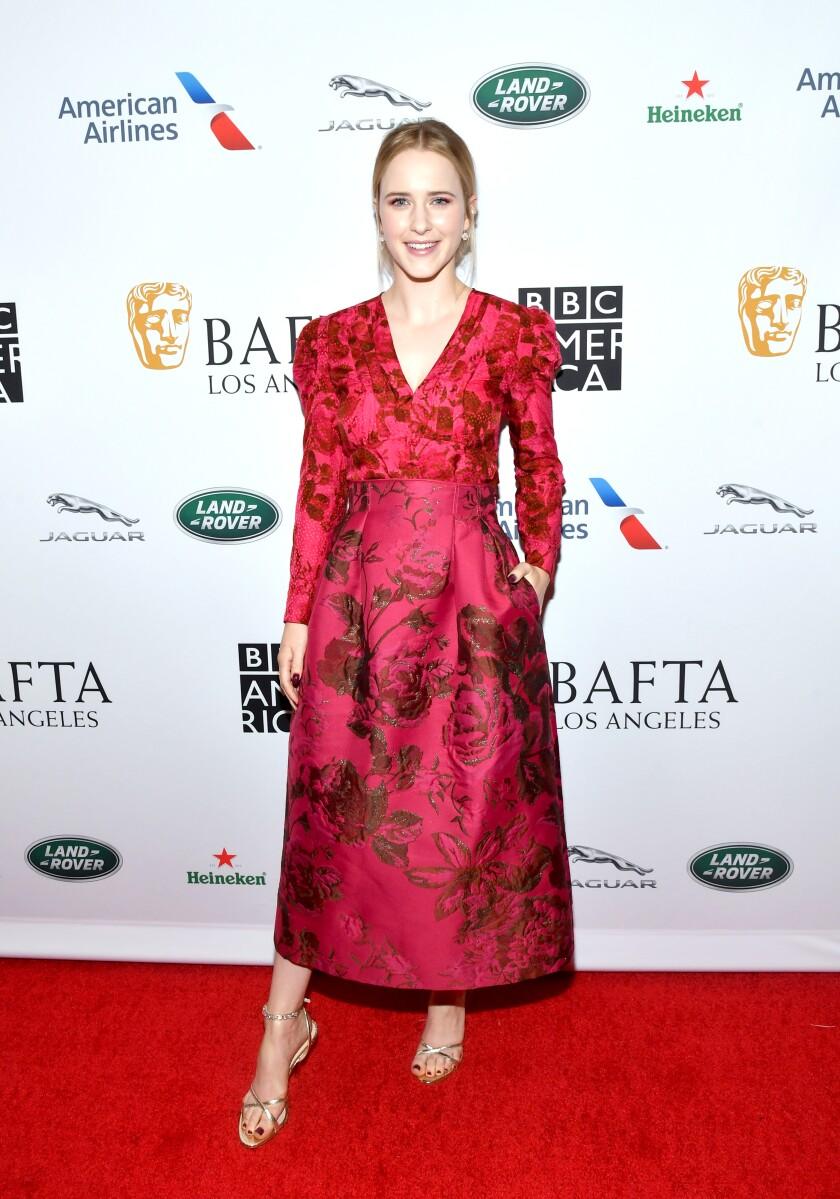 Rachel Brosnahan at the BAFTA Los Angeles + BBC America TV Tea Party.