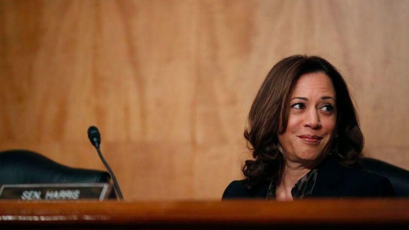 Sen. Kamala Harris (D-Calif.) attends a Senate hearing in Washington earlier this month.