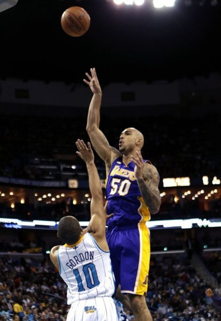 The Lakers recently re-signed 7-foot center Robert Sacre to a multiyear contract.