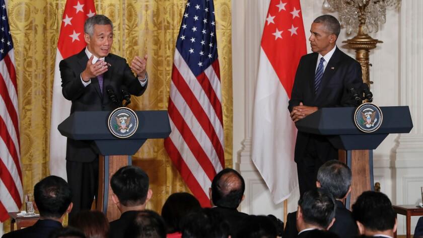 Lee Hsien Loong and Barack Obama
