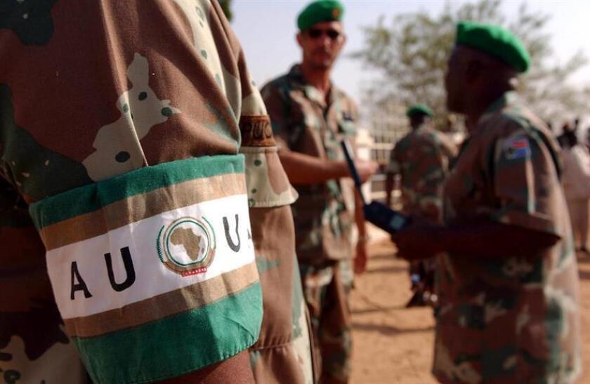 Fotografía de archivo que muestra a las tropas de la Unión Africana (UA). EFE/Archivo