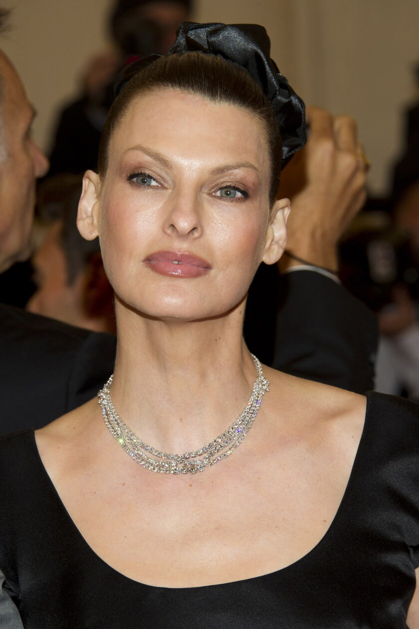 Supermodel Linda Evangelista in 2012