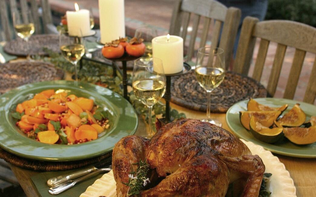 Rosemary-Meyer lemon turkey with wilted escarole