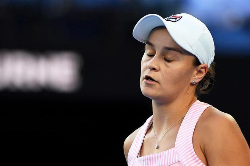 El triunfo decisivo de Australia llegó de la mano de la pareja de dobles formada por Ashleigh Barty (imagen) y Priscilla Hon que se impusieron en dos sets corridos por 6-4 y 7-5 a las tenistas locales Danielle Collins y Nicole Melichar. EFE/Archivo