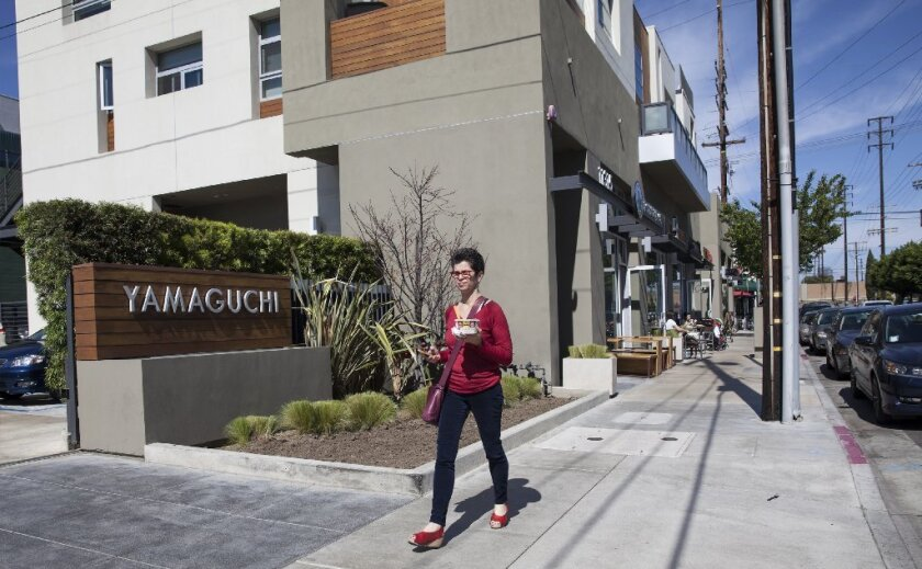 """Long known as a Japanese American enclave, West Los Angeles' Sawtelle neighborhood is finally getting official recognition from the city with the unveiling of a new sign - """"Sawtelle Japantown."""""""