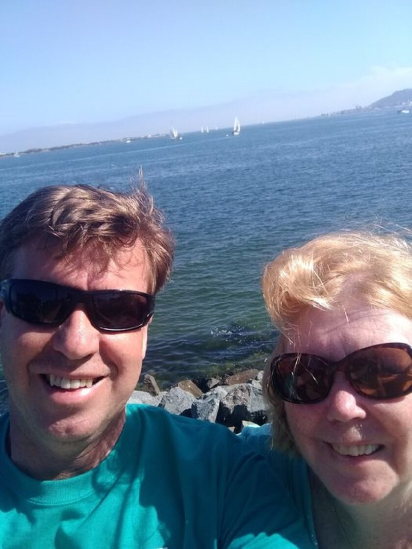 La Jolla resident Brian Cluster is pictured with his mother, Bev Boyett.