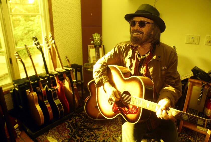 MALIBU, CA -- SEPTEMBER 27, 2017 -- Grammy-award winning rocker Tom Petty at his home in Malibu on