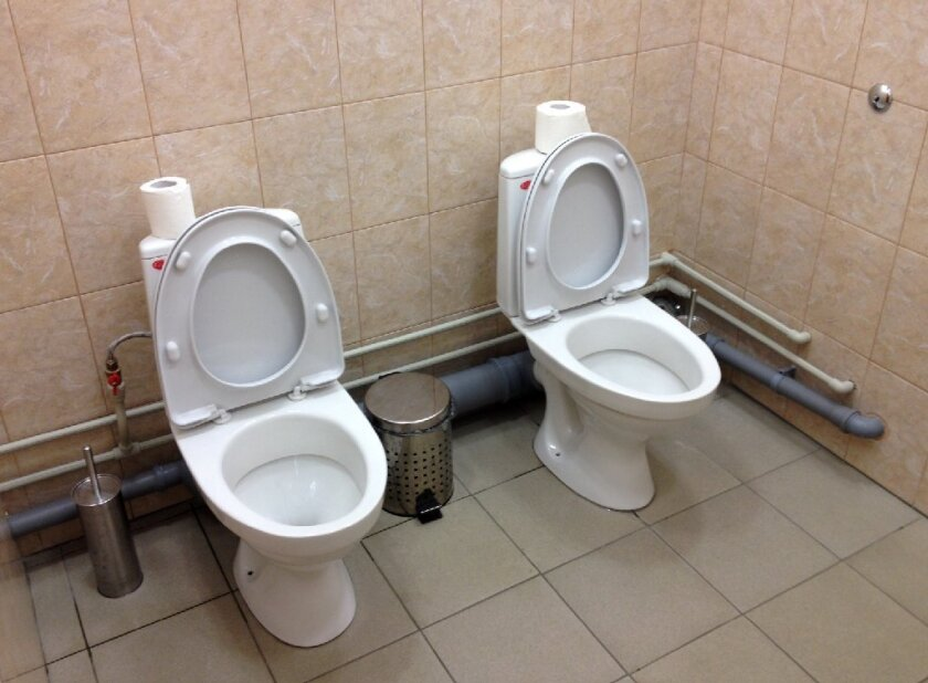 The toilets that caused a stir -- buddy toilets in Sochi, Russia.