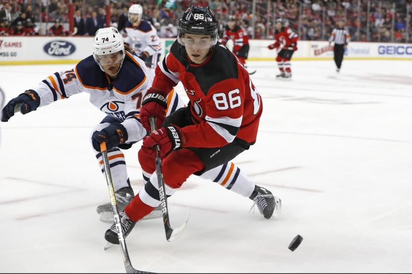 Oilers Devils Hockey