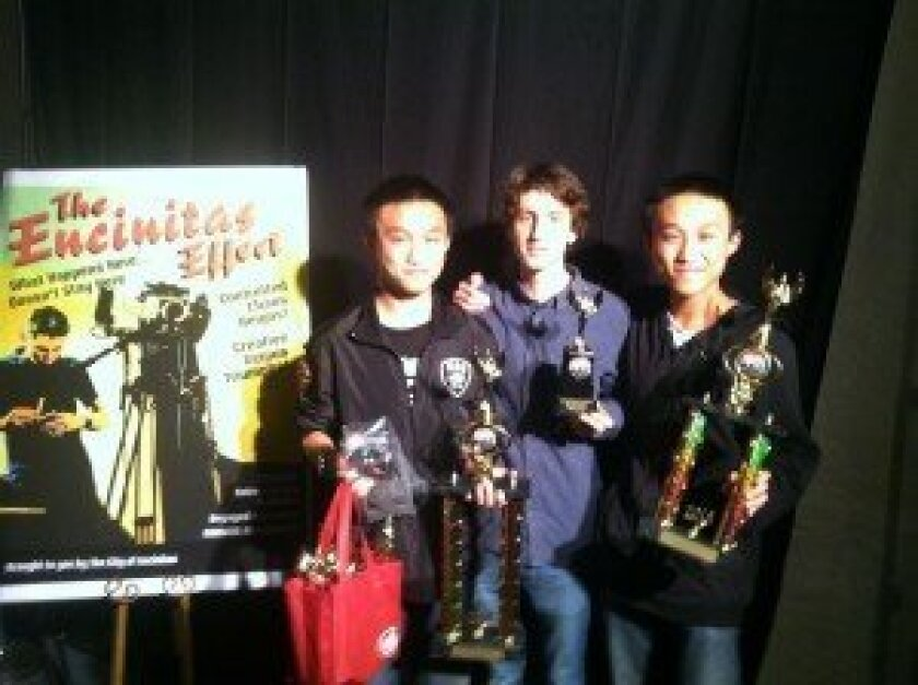 Students from Canyon Crest's Envision Cinema Conservatory at the First Annual Encinitas Film Festival. Courtesy photo