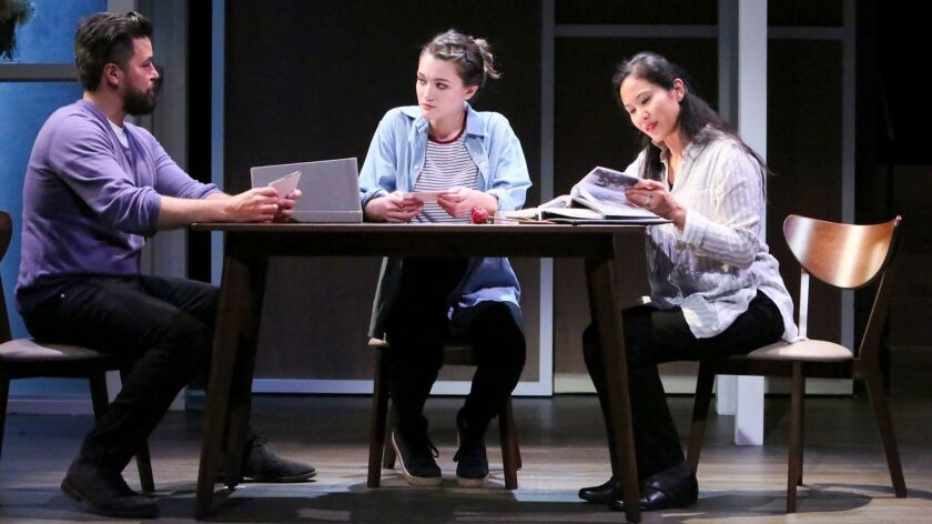 Clifton Hall as Dan, Isa Briones as Natalie, center, and Deedee Magno Hall as Diana.