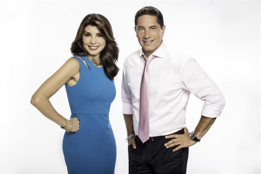 Los periodistas Patricia Janiot y Fernando del Rincón estrenarán el próximo domingo sus nuevos programas en CNN en Español, titulados Nuestro Mundo y Fuentes Confiables, respectivamente, anunció hoy el canal. EFE/SÓLO USO EDITORIAL/NO VENTAS