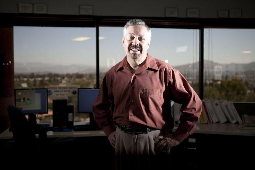 Jim Purpura, retiring meteorologist in charge at the National Weather Service office in Rancho Bernardo. John R. McCutchen • U-T