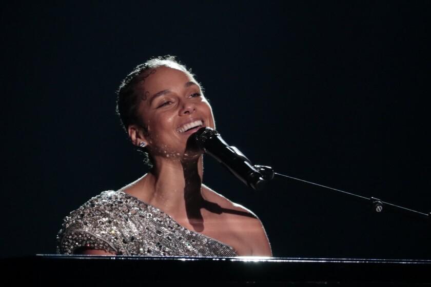 Alicia Keys at the 2020 Grammy Awards.