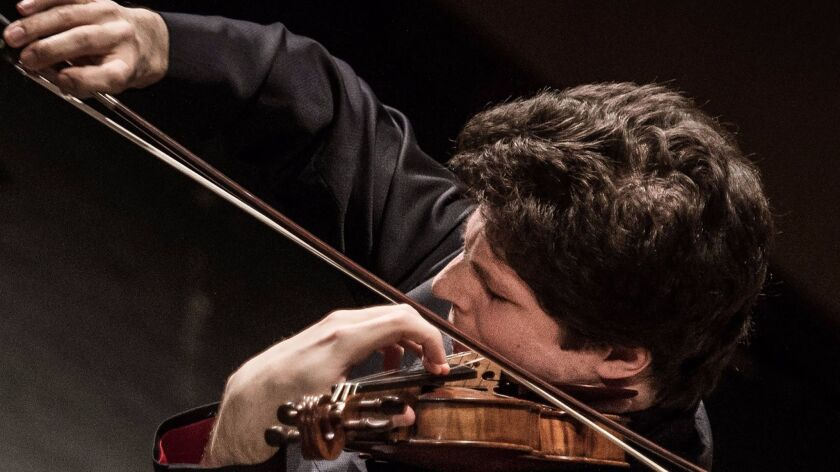 Violinist Augustin Hadelich will perform with the San Diego Symphony March 3-5 at Copley Symphony Hall in San Diego.