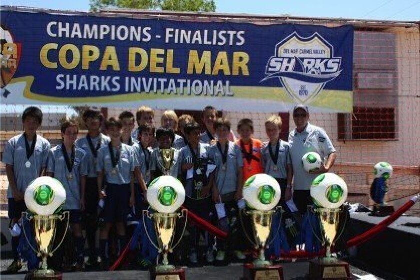 The DMCV Sharks Boys U13 White team.