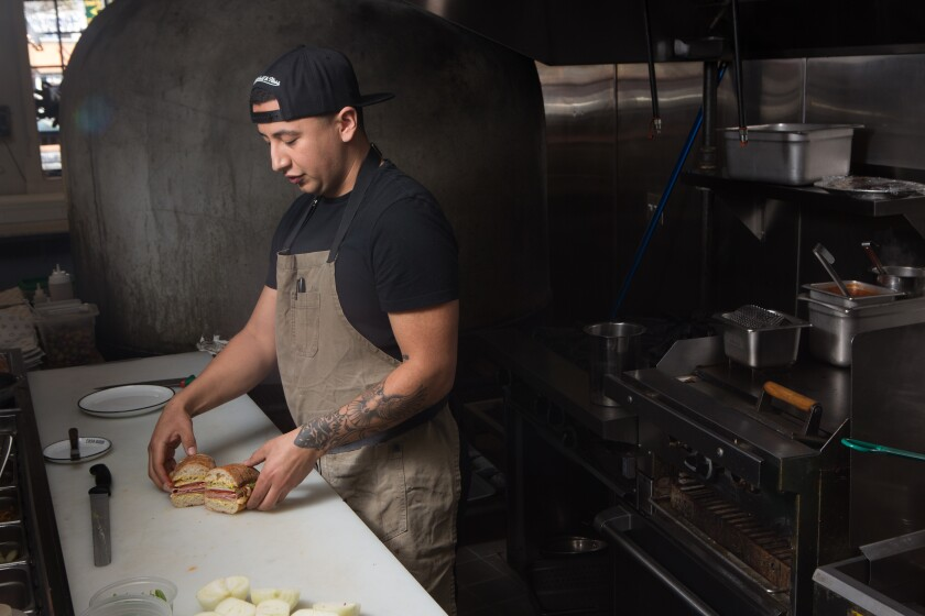 Chef Daniel Chavez makes the Stepmother in his kitchen at Cosa Buona.