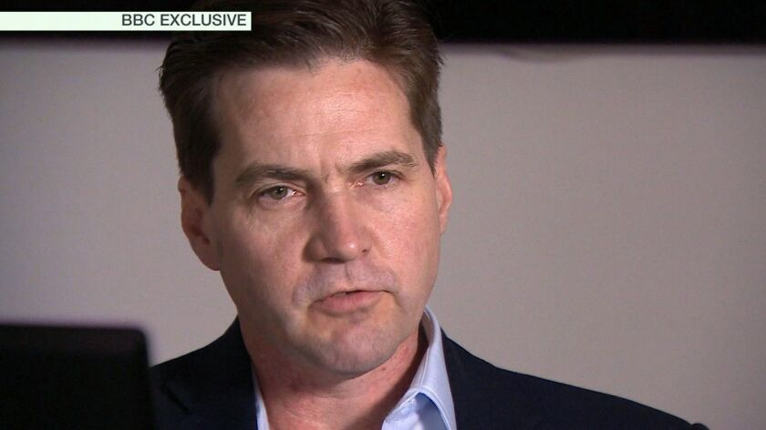 This framegrab from the BBC shows Craig Wright, who claims he invented bitcoin, speaking in London.