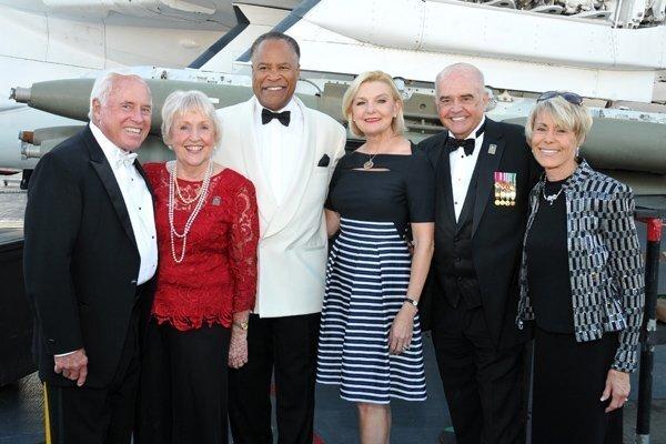 Jim and Vangie Regan, Jessie Knight Jr. and Joye Blount (company sponsors), Nick and Cathy Monroe (he's Capt., USN, Ret.)
