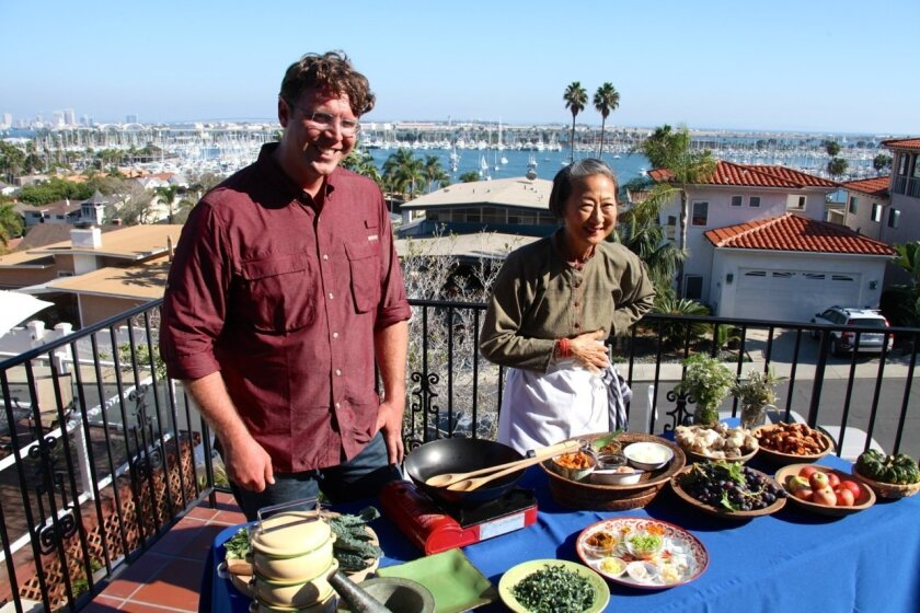 National Geographic documentary host Andrew Evans and San Diego restaurateur and chef Su-Mei Yu.