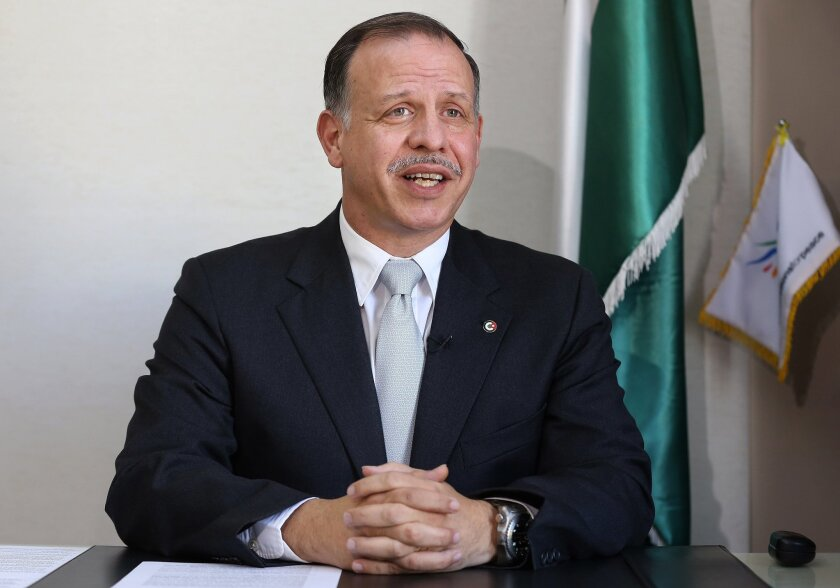 Prince Feisal al-Hussein, brother of Jordan's King Abdullah II, speaks during an interview with The Associated Press in Amman, Jordan,Wednesday, Nov. 25, 2015. Al-Hussein says extremist Islamic ideologies pose a global challenge, but can't be eradicated by military force alone. (AP Photo/Raad Adayleh)