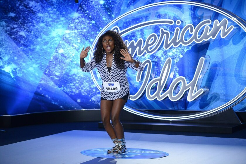 """Loren Lott, who grew up in San Diego, performed on this """"American Idol"""" broadcast on Jan. 8, 2015. Her elimination was announced March 11 after making """"Idol's"""" top 16."""