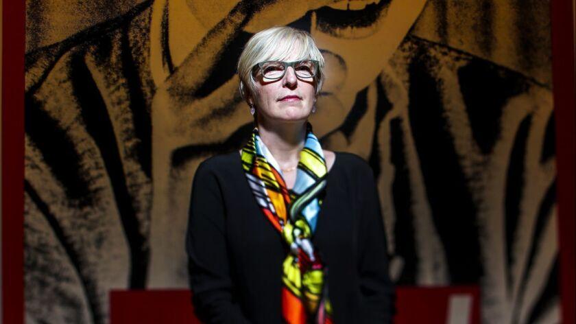 LOS ANGELES, CA --DECEMBER 4, 2014--Helen Molesworth, chief curator at the Museum of Contemporary Ar