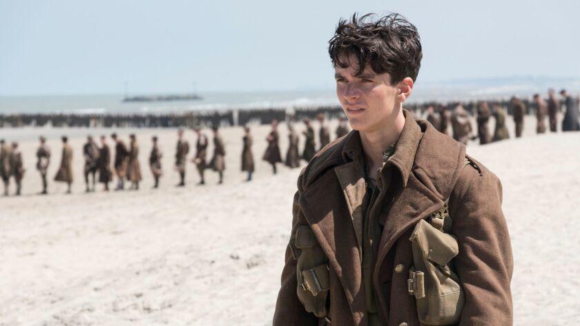 "Fionn Whitehead as Collins in ""Dunkirk."""