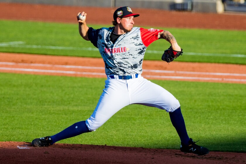 Padres pitching prospect Lake Bachar started 2019 at Double-A Amarillo.