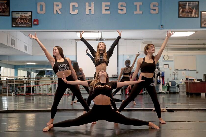 Corona del Mar High School's Orchesis Dance Company seniors dance.