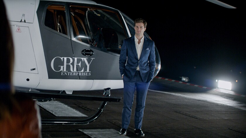 """A new book by E.L. James, """"Grey,"""" will tell the """"Fifty Shades of Grey"""" story from the point of view of Christian Grey, played by Jamie Dornan in the film."""