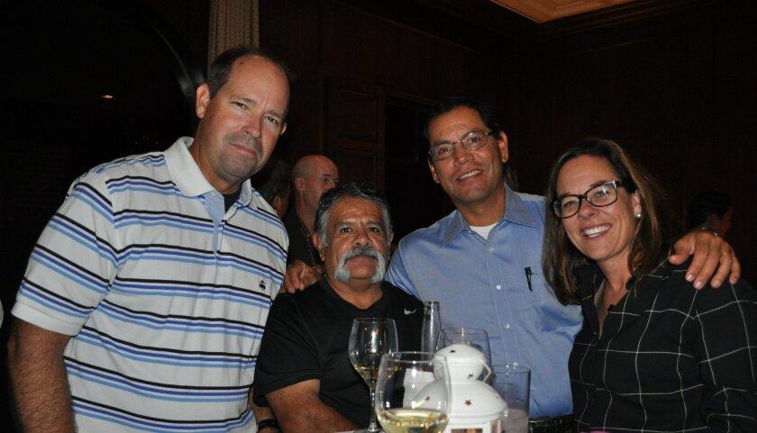 Matt McMillan, Erick Gomez, Hector Jimenez and Grace Zimmerman