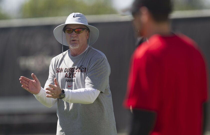 San Diego State associate head coach Jeff Horton begins his second season as SDSU's offensive coordinator.